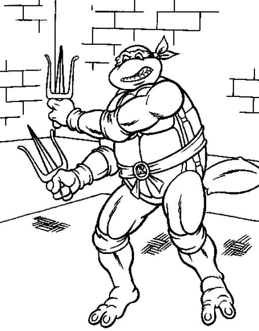 Fun Coloring Pages Teenage Mutant Ninja Turtles Coloring