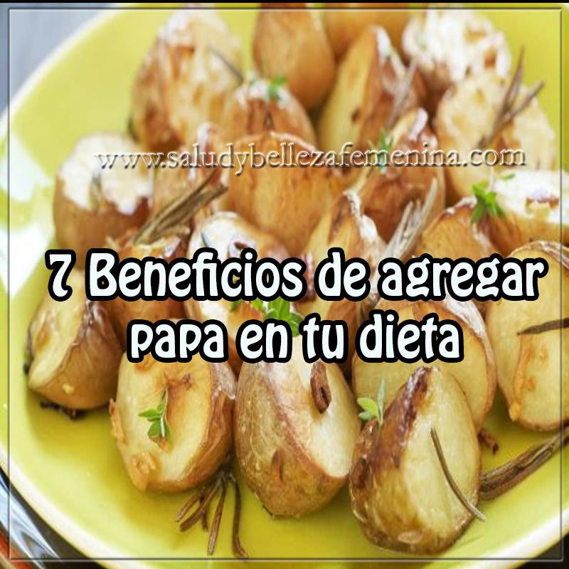 Dietas y  nutrición,  beneficios papa´para adelgazar