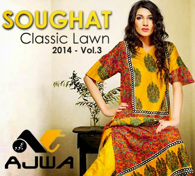 Soughat Classic Lawn -14 VOL-3 by Ajwa Textile