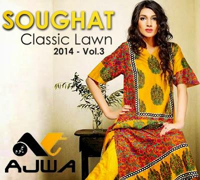 Soughat Classic Lawn -14 VOL-3 by Ajwa Textile