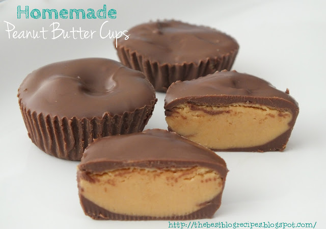 Homemade Peanut Butter Cups from thebestblogrecipes.com