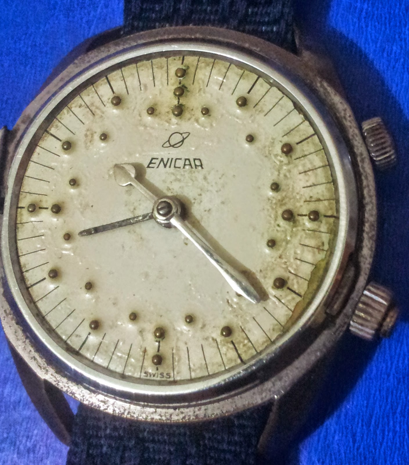 silvium antiques: Mens Antique Watch enicar Braille for Blind Time ...