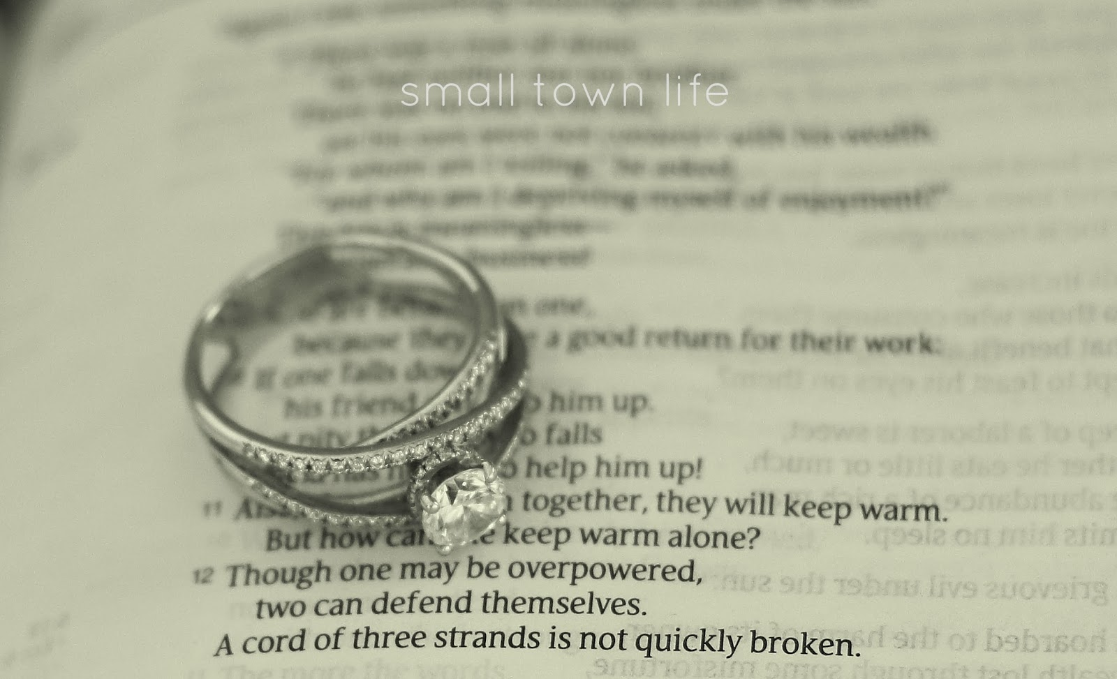 ecclesiastes 4:12, engagement ring, engagement photo, engagement bible verse