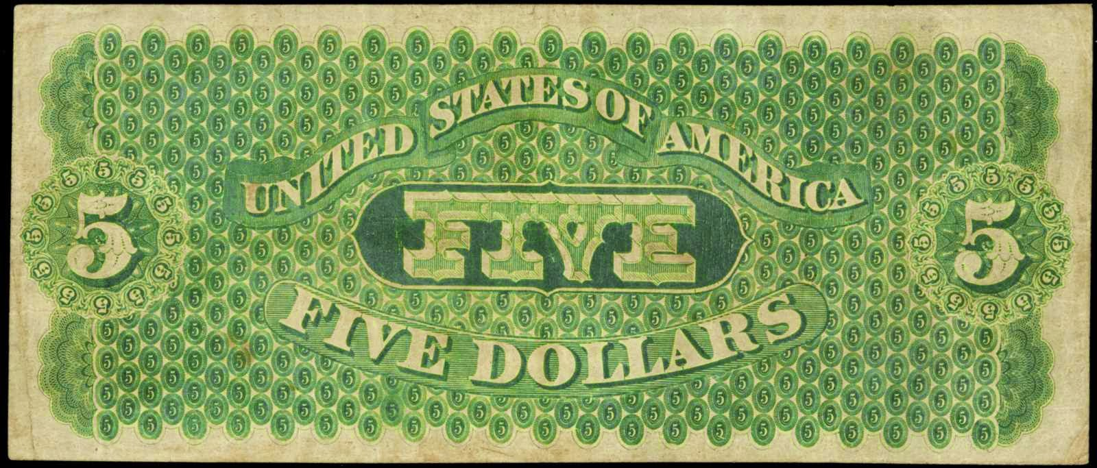 United States five dollar bill Greenback
