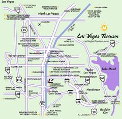 Tourist Map of Las Vegas 2