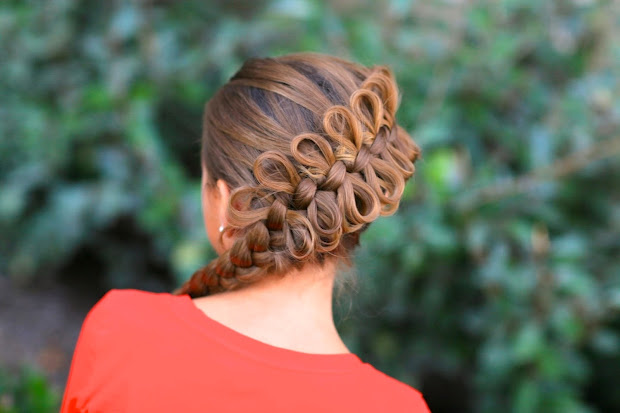 cute bow hairstyle design