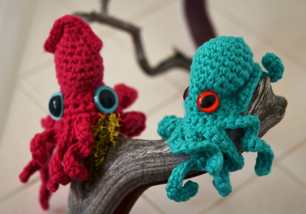 Ruby Submarine Baby Octopus And Squid Crochet Pattern