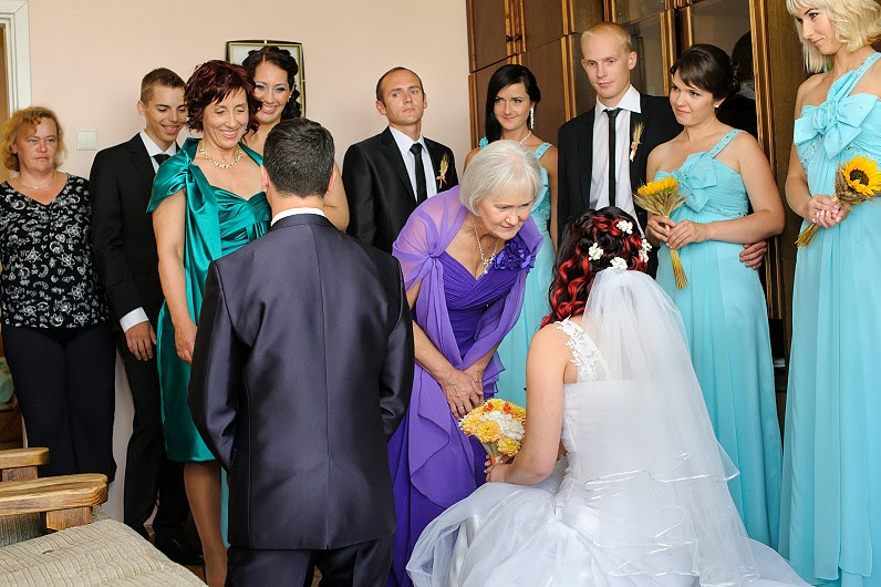 tėvų laiminimas per vestuves