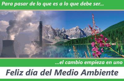 Imagen del Día Mundial del Medio Ambiente (El cambio comienza en uno mismo, es tiempo de cambiar)