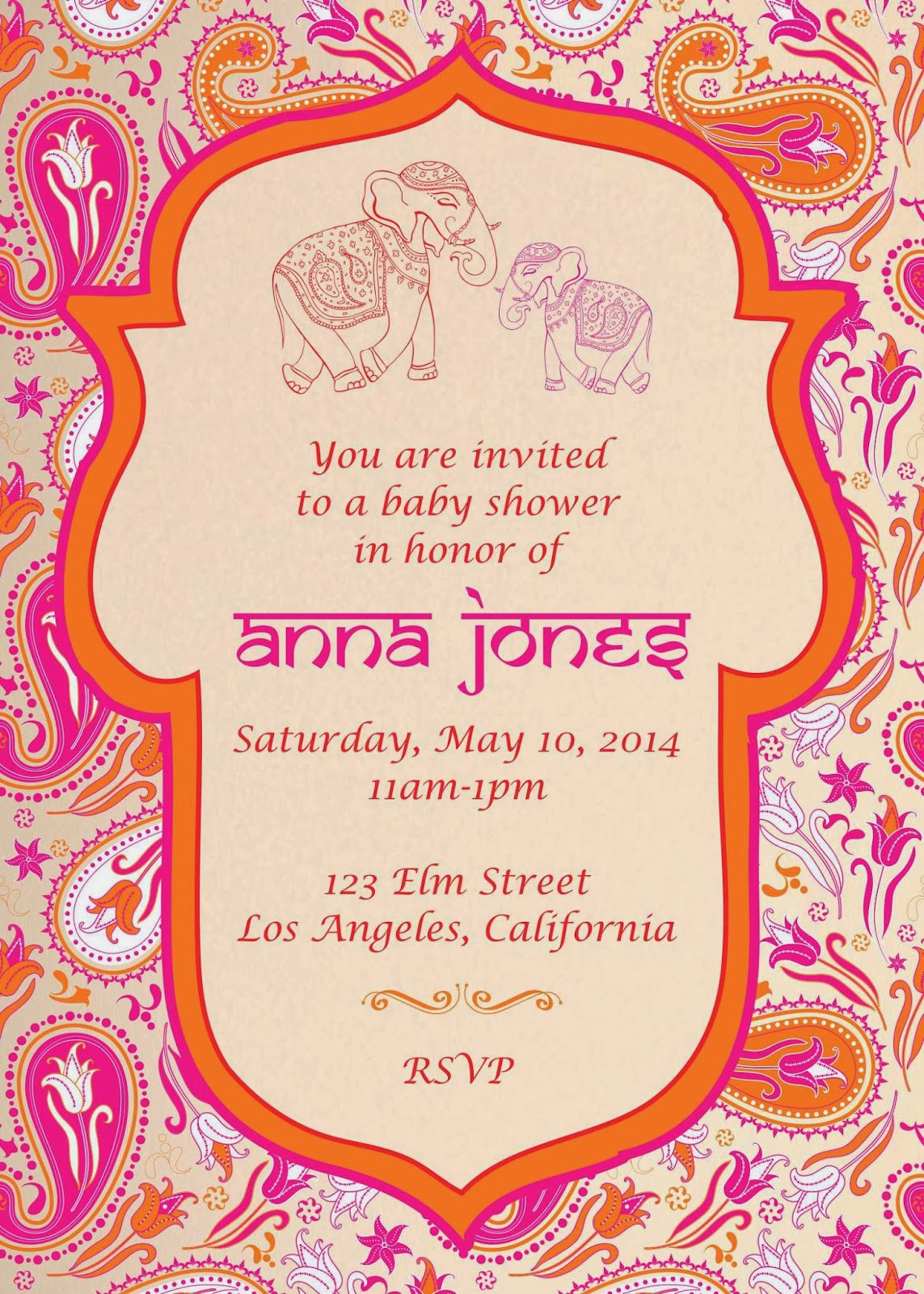 Indian Baby Shower Invitations Part - 42: Monday, March 3, 2014. Our Latest Design Indian Style Baby Shower Invitation  ...