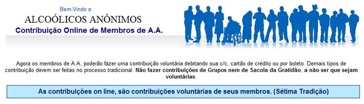 Contribuição Online de Membros de A.A. Onde o material se mistura com o espiritual.