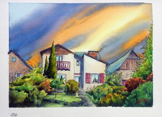 Aquarelle, watercolor, watercolour