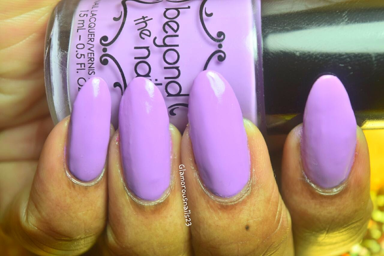 Beyond The Nail Spring Purple Swatch