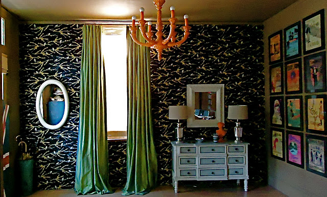 Using Fabric To Cover Walls : Your hollywood home duct tape and sheets make big impact