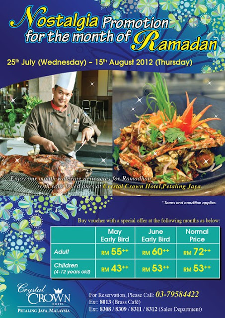 18675 Nostalgia Promotion for the month of Ramadhan at Crystal Crown PJ