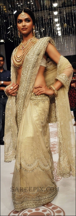 Deepika Padukone in bridal saree