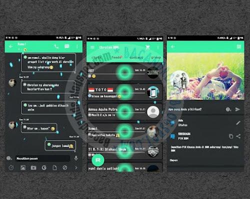 BBM Mod Dark Green V2.9.0.51 Full Animation Android