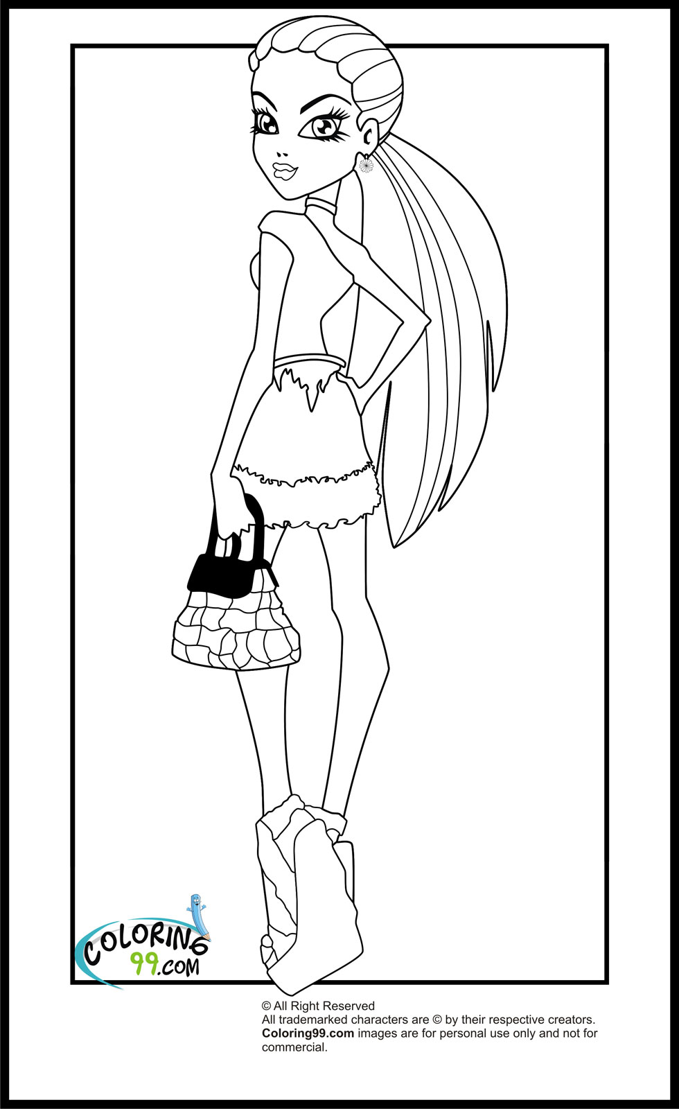 Monster high travel scaris coloring pages minister coloring for Monster high abbey coloring pages