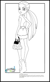 monster high scaris abbey bominable coloring pages