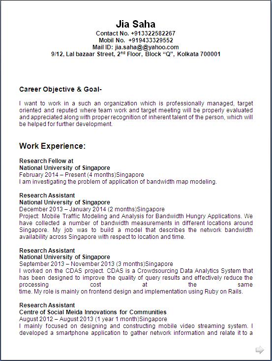 resume sample  computer science  u0026 engineer having 6  years