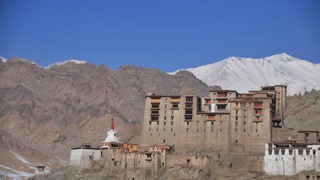 Leh Ladakh Himalayas mountians flight monastery winters