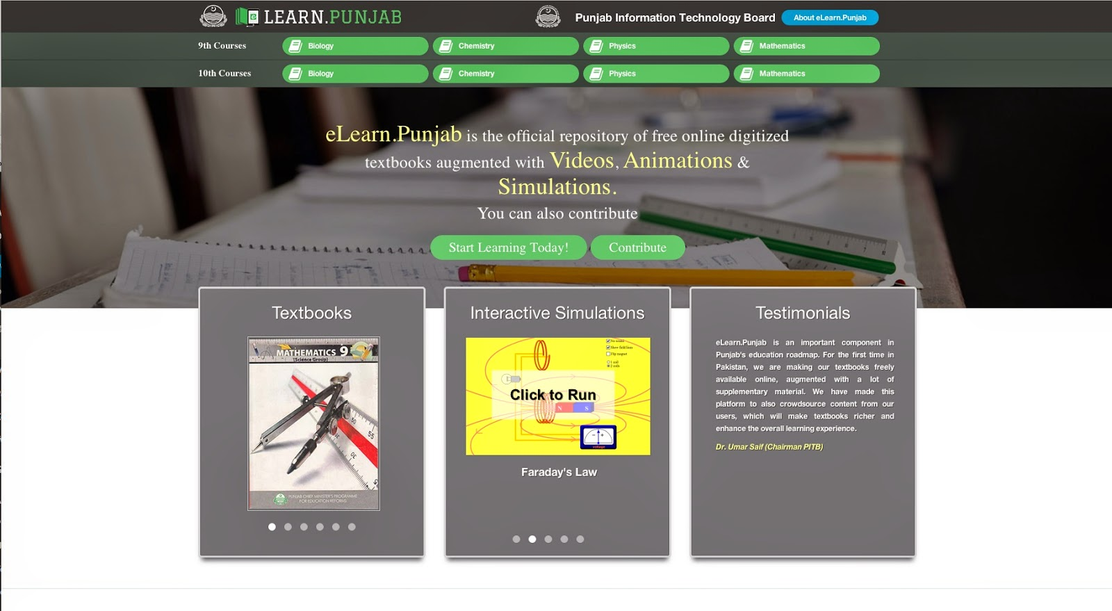 E-Learn Punjab – Pakistan First Online Free Text Books Repository