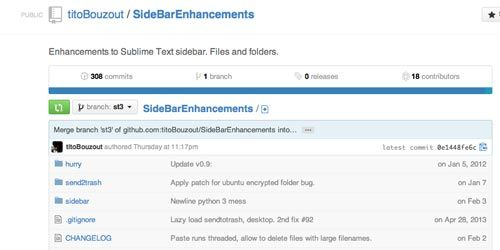 sidebar enhancements para sublime text