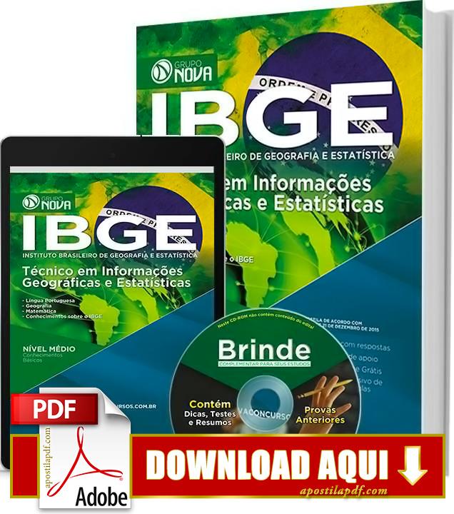 Apostila IBGE 2016 PDF Grátis Download