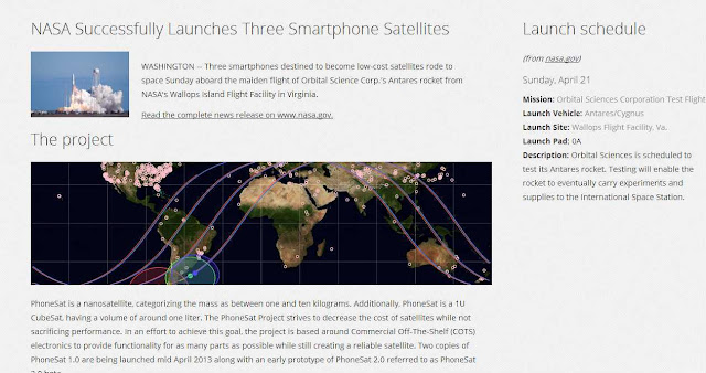 What is in NASA's (Android) PhoneSat project?