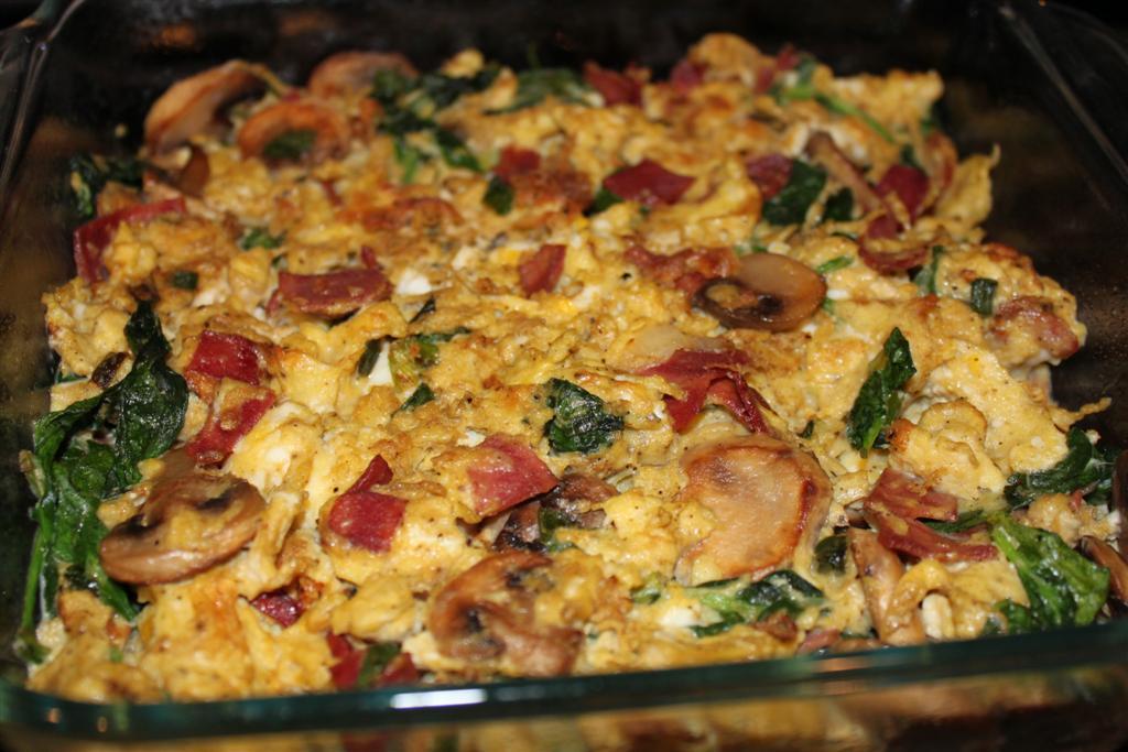 Kelly's Healthified Kitchen: Spinach & Mushroom Frittata