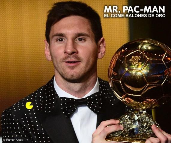Messi y su disfraz de Pac-Man