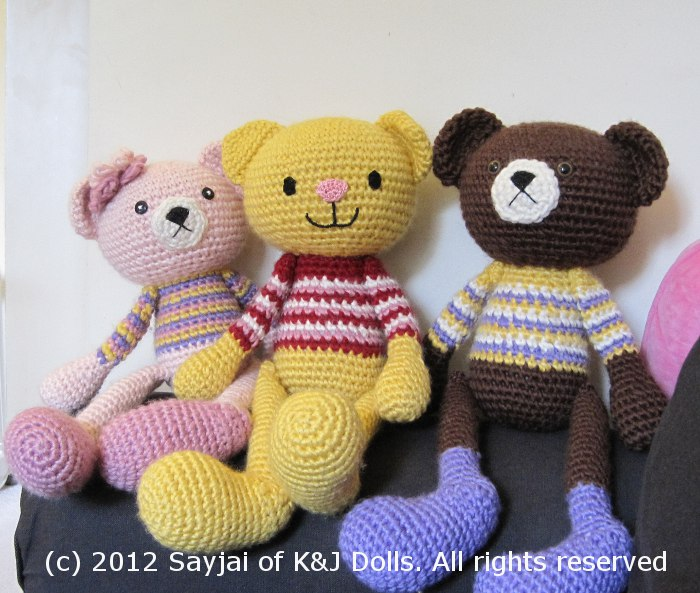 katze und b r amigurumi h kelanleitungen von k and j dolls. Black Bedroom Furniture Sets. Home Design Ideas