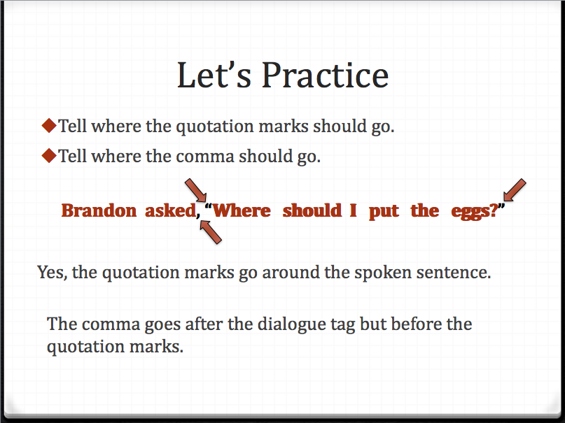 Dialogue how to write it