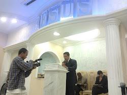 """""""Gravação do mais recente dvd do Ev.Ernani Lourenço na sede da Igreja o Brasil para Cristo""""."""