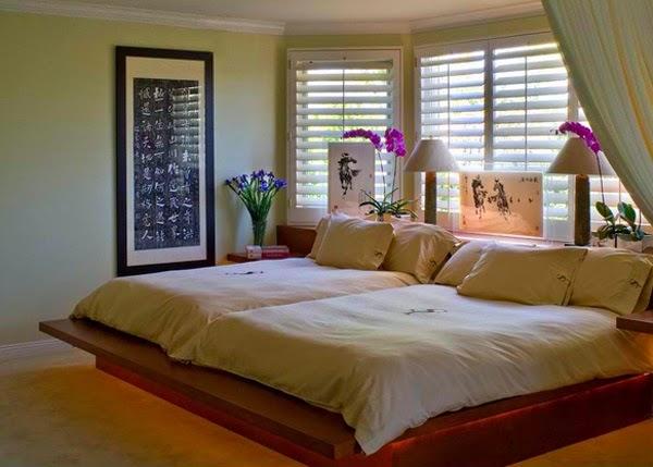 D corations chambres avec influence asiatique d cor de for Chambre complete couple