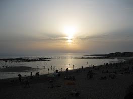 Puesta de sol en Sajorami Beach