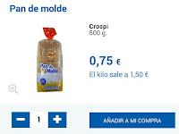 Precio pan de molde
