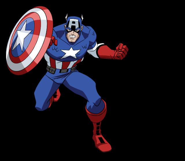 Capitão América desenho Os Vingadores Colorido