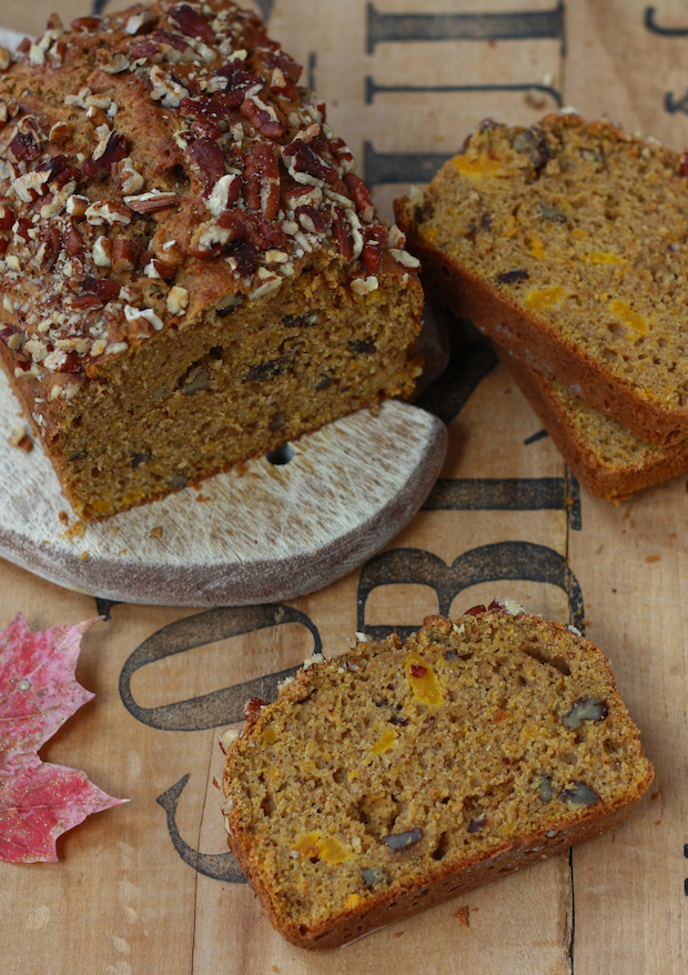 Spiced Pecan Pumpkin Bread by SeasonWithSpice.com
