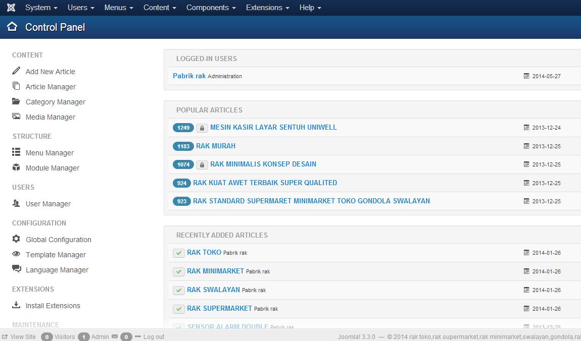 Software Pembuat website dan toko online Joomla