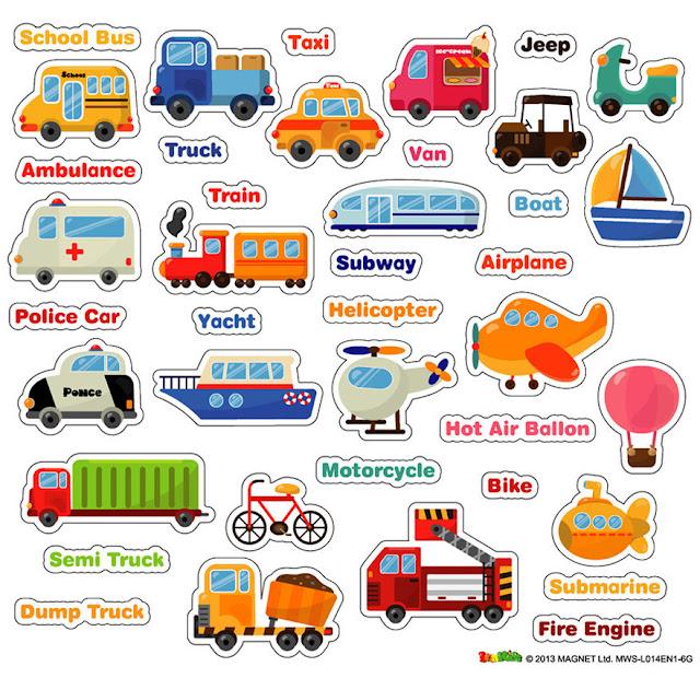 nama-nama alat transportasi dalam bahasa inggris | Vocabulary
