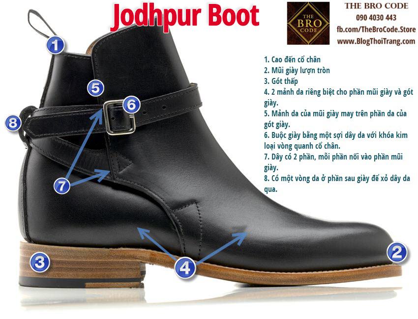 8 đặc điểm nhận dạng của một đôi Jodhpur Boot