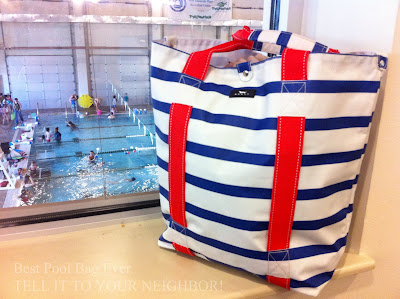 grand plan, scout bag, scout tote bag, pool bag, water resistant, best pool bag ever, 