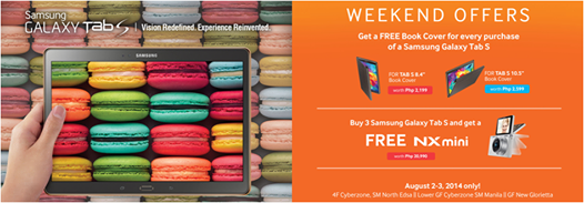 Get a Free Book Cover on Samsung Galaxy Tab S Weekend Deals