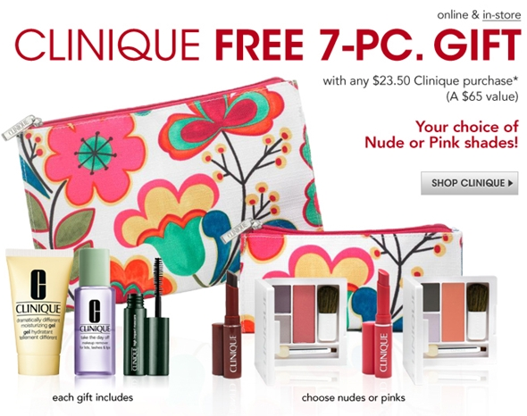 clinique s free gift with purchase time again available at