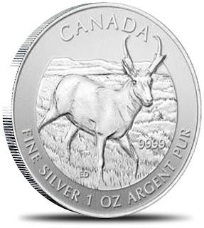 Serija zbirka Kanadski srebrniki Wildlife Kanada 2013 Antilopa