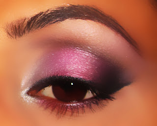 mac, eyeshadow, girlie, pink, silver, electra, carbon, smokey, blog, look, brun, gesso, tutorial