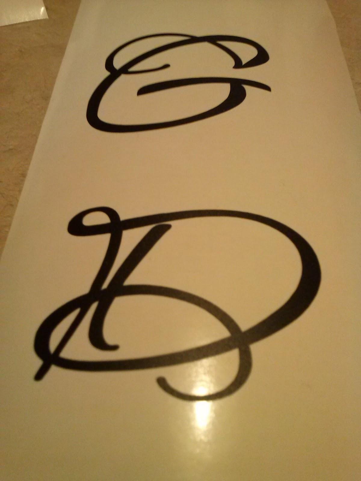 DIY wine glass kit monogram D