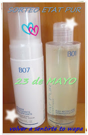 SORTEO ETAT PUR .. Limpiadora en mousse &amp; Agua Micelar