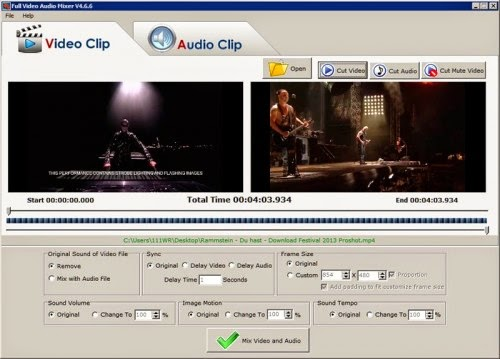 Video Audio Mixer 4.6.6 Full,Mix Video và âm thanh,Cut Video và nhạc